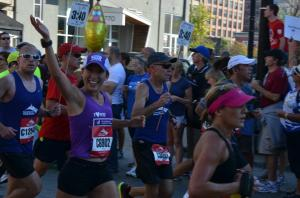 Mile 17 of the Chicago Marathon, 10/9/11