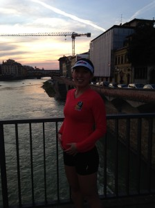 Sunset run through Florence, 3/11/14