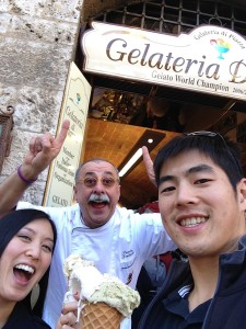 Gelato at Gelateria Dondoli in San Gimignano, 3/12/14