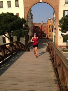 6-mile run in Venice, Italy during which I ran over 29 bridges at 20 weeks! 3/14/14