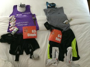 Race gear ready, 5/10/14