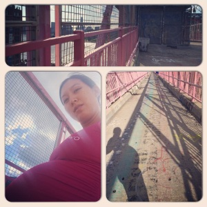 Yesterday's 4-mile run before I spent the night struggling with Braxton Hicks contractions, 7/17/14