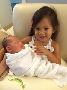 Keira and cousin Sophia, 2014-08-01